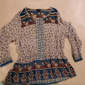 Lucky Brand floral blouse